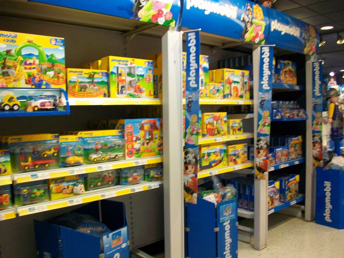 There's a large section devoted to Playmobil 1-2-3, Playmobil's line of toddler toys.