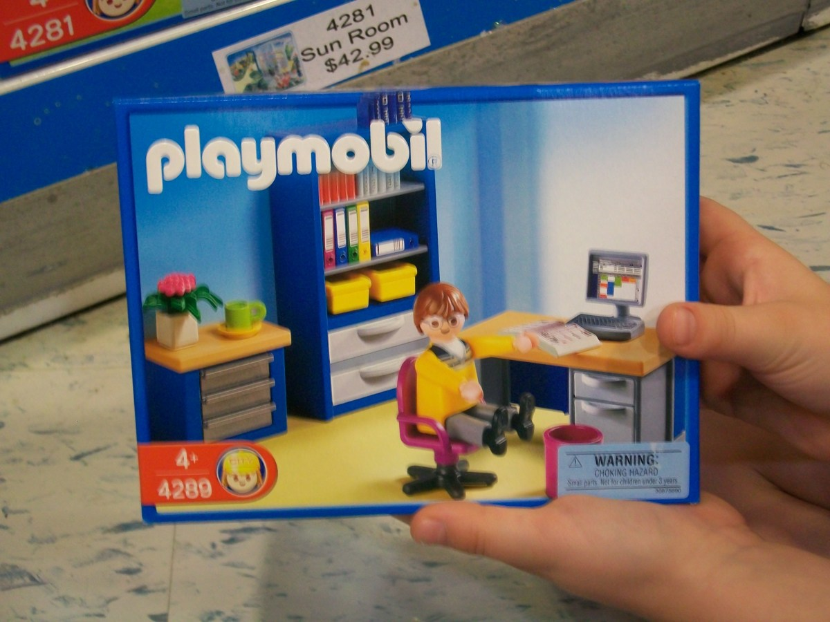 "My daughter decided that I should buy this ""Home Office"" playset, because the doll looks just like me working. Ha! I wish my workspace were that nice!"