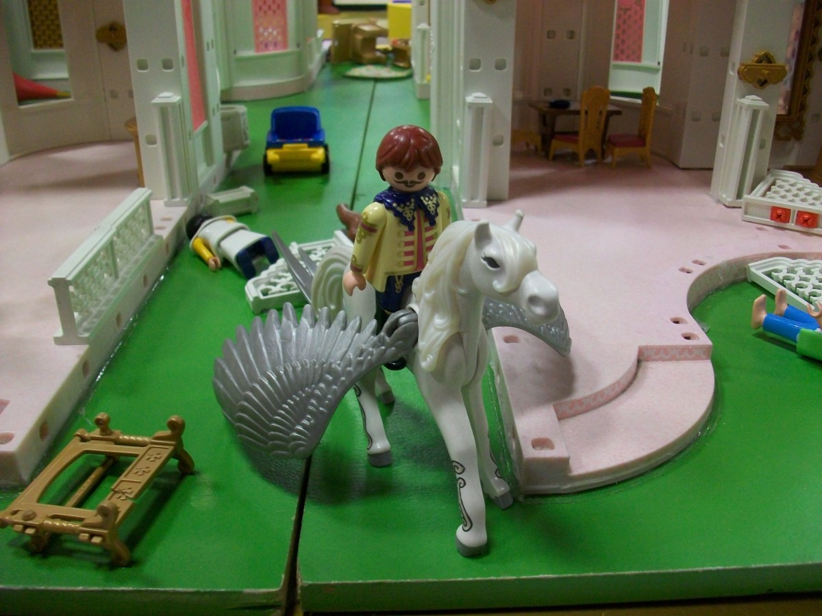 A Sergeant Pepper-era Ringo rides a pegasus. That's totally normal, right?