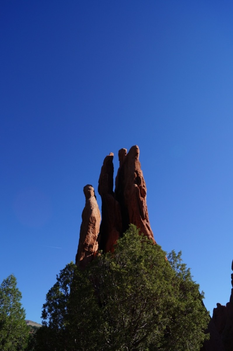 The Cathedral Spires at Garden of the Gods.  I thought it looked like a hand reaching up to the heavens.