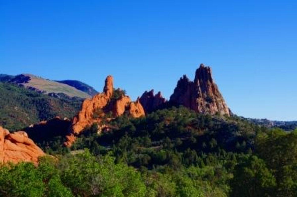A closer look at the Garden of the Gods.  I took this photo only a few days before the Waldo Canyon fire started nearby.