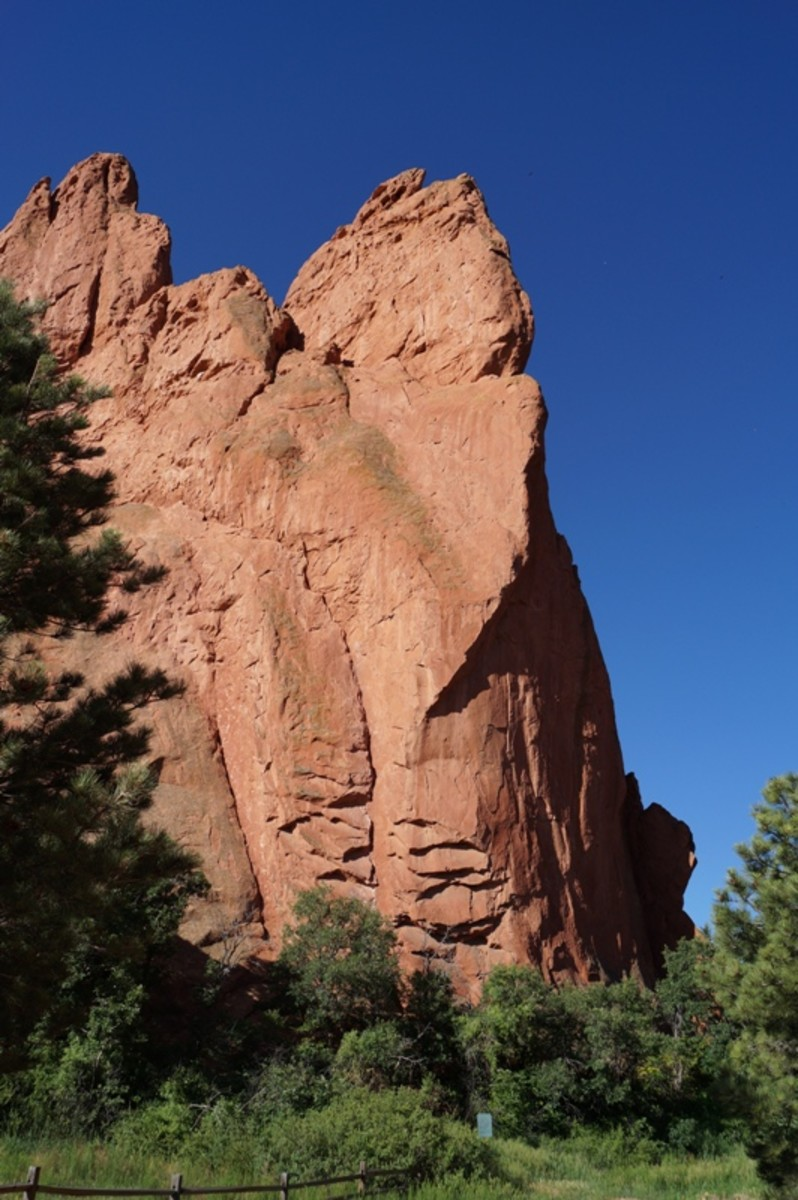 This is the South Gateway Rock.  The Central Garden Trails go between this and the North Gateway Rock.