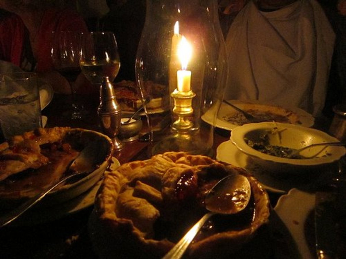 Candlelit dinner at The King's Arms