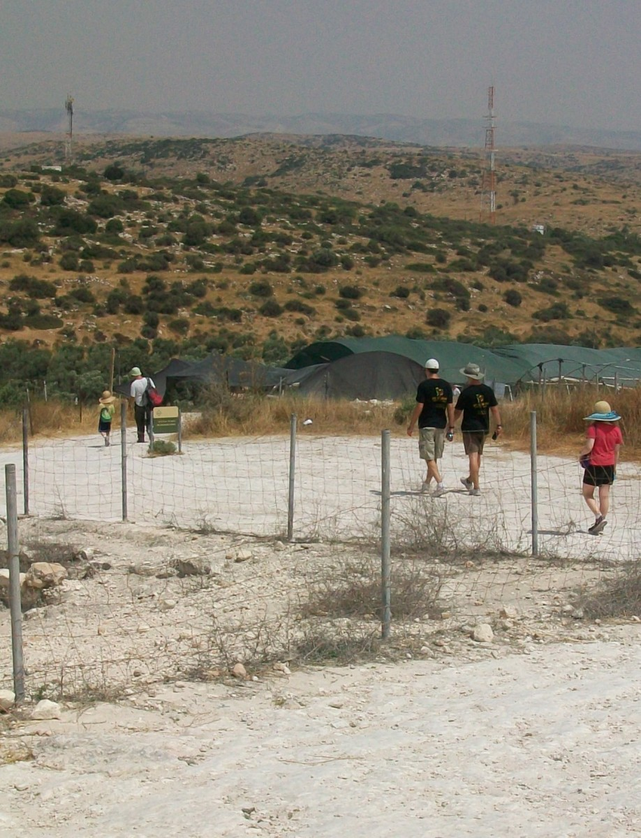 Walking to the Dig for a Day site at Bet Guvrin