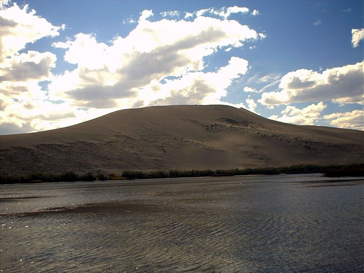 Bruneau Sand Dunes, believed to have begun with the flood action.