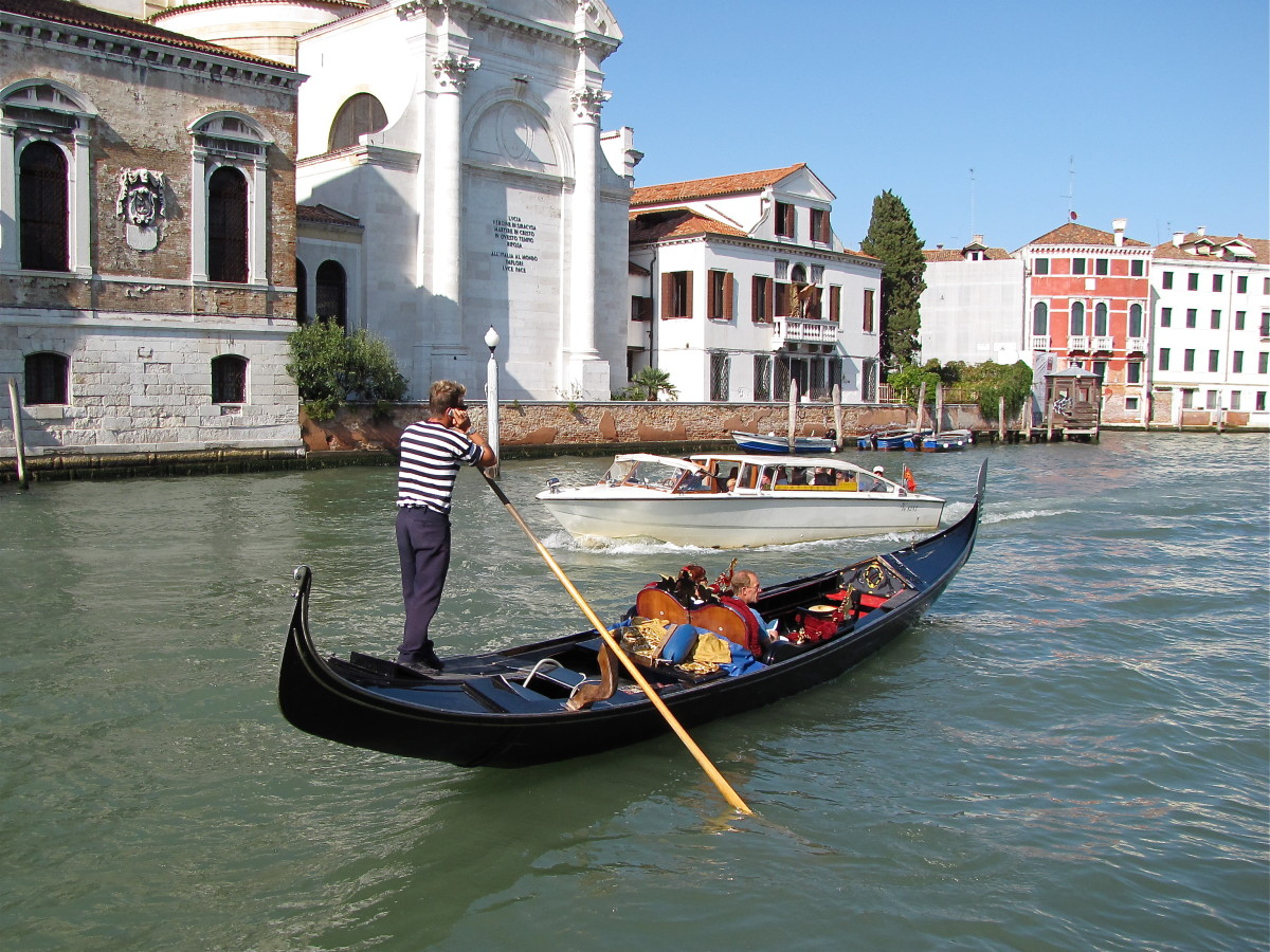 On the Grand Canal of Venice