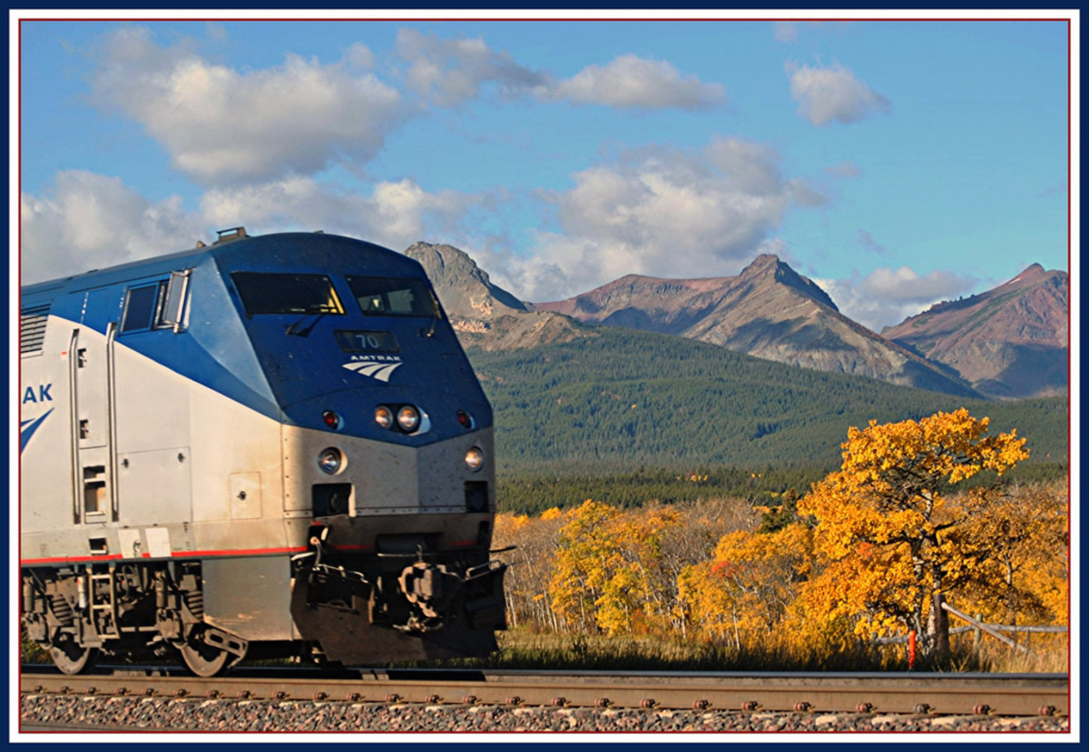 Empire Builder @ East Glacier Park Montana