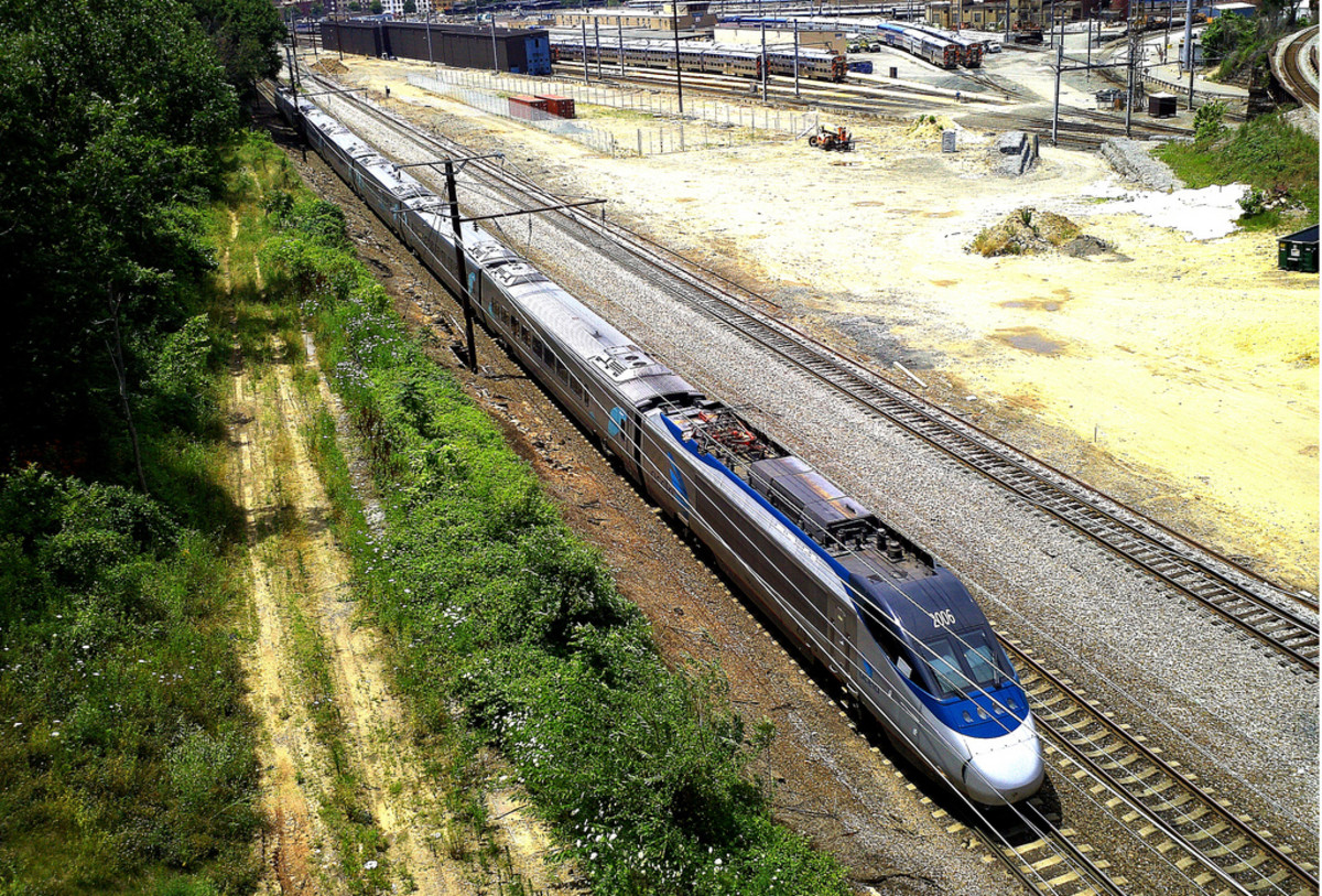 Acela washington DC An Acela express just departing DC Union station on its way north.