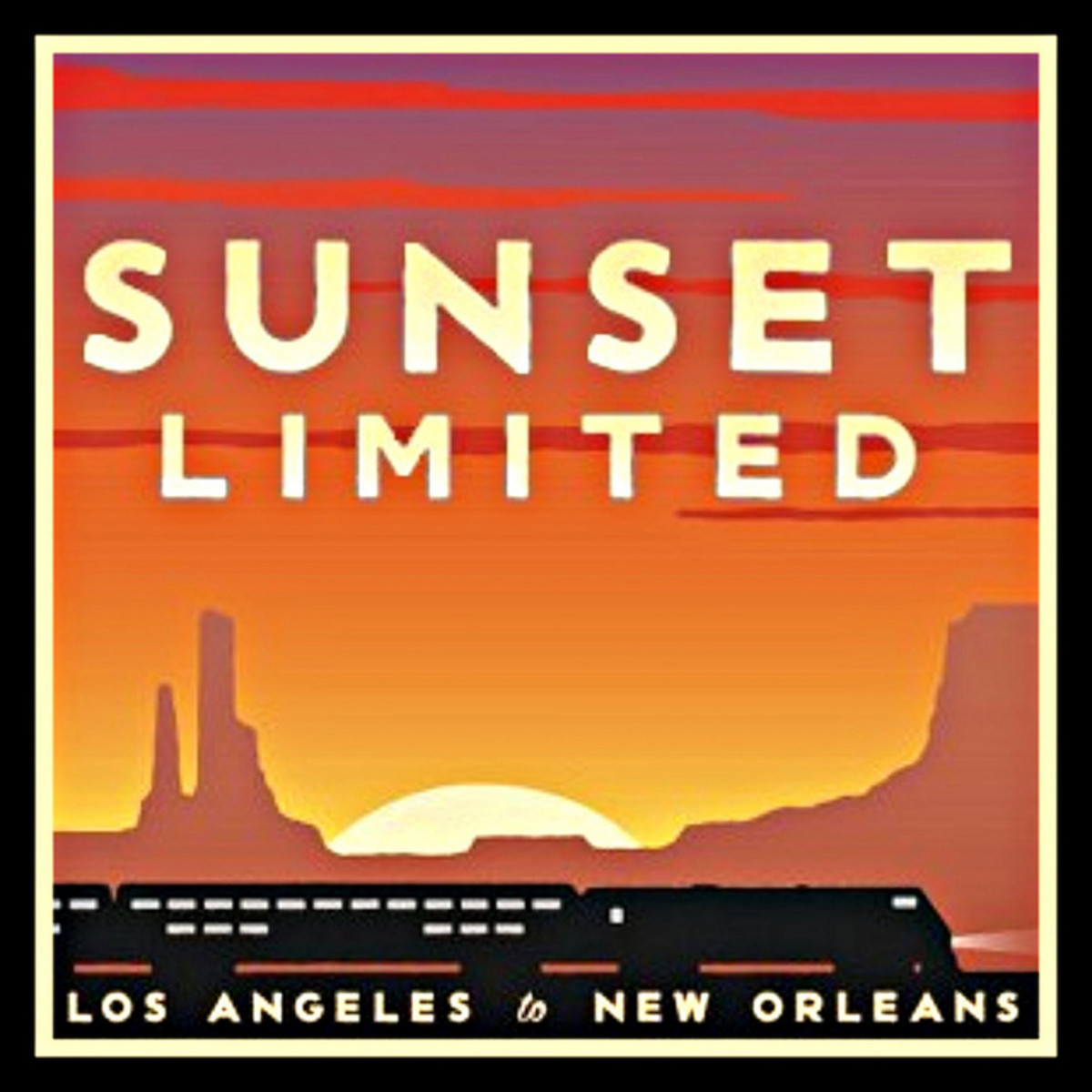Amtrak 'sunset limited' Poster artwork Edited