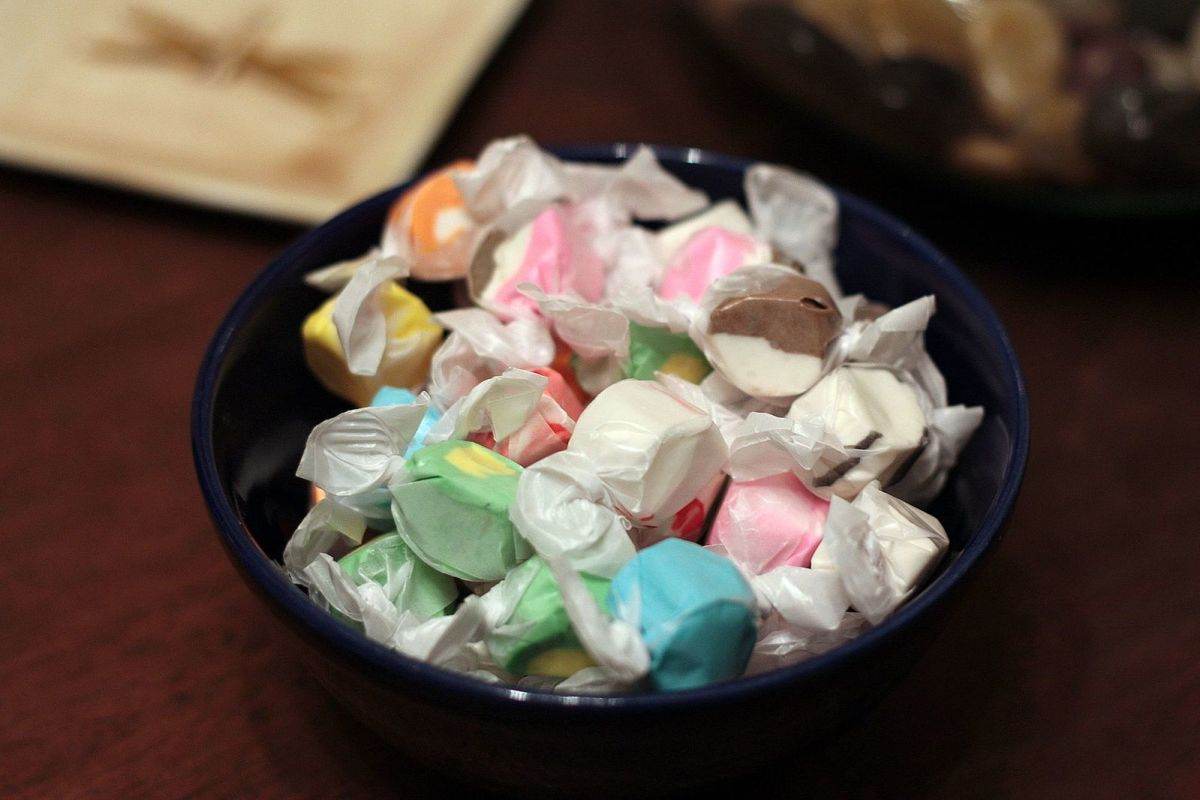 Salt water taffy is a great, all-American candy to give to your host in Japan.