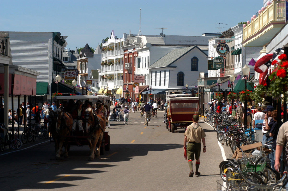 Main Street on Mackinac Island