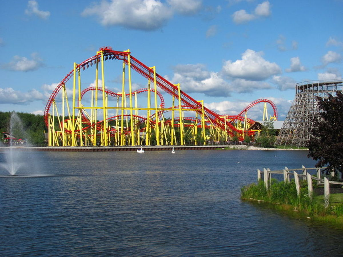 The Thunderhawk roller coaster at Michigan's Adventure