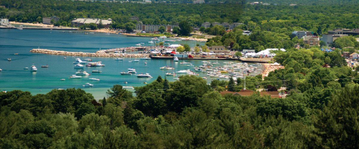 A view of the Grand Traverse Bay during the National Cherry Festival