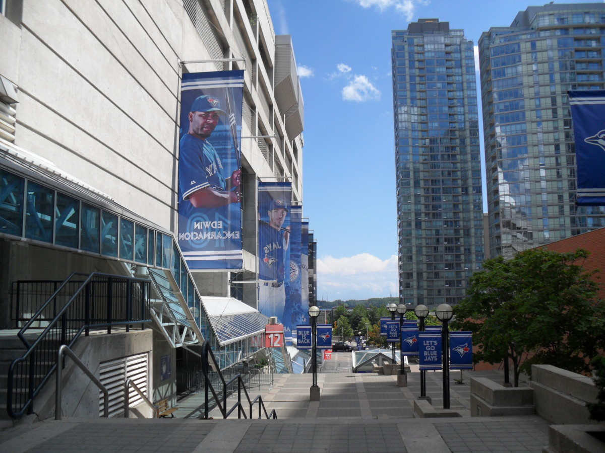 The Rogers Center: Home of the Toronto Blue Jays.