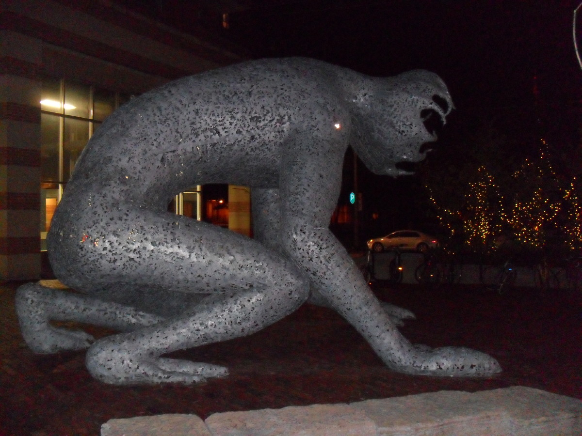 The Distillery District is home to many unique sculptures