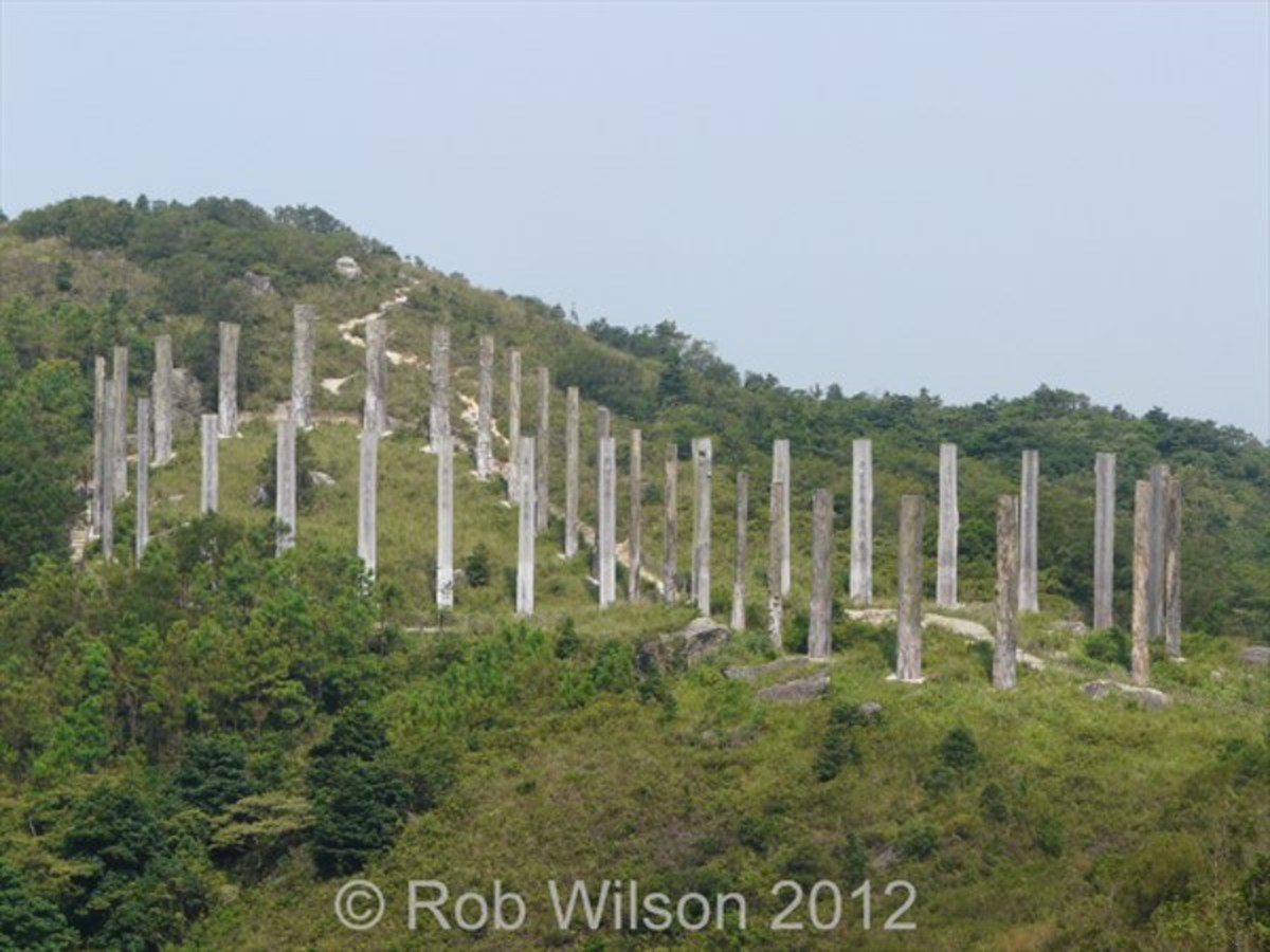 The Wisdom Path, at Ngong Ping, Tung Chung Hong Kong.