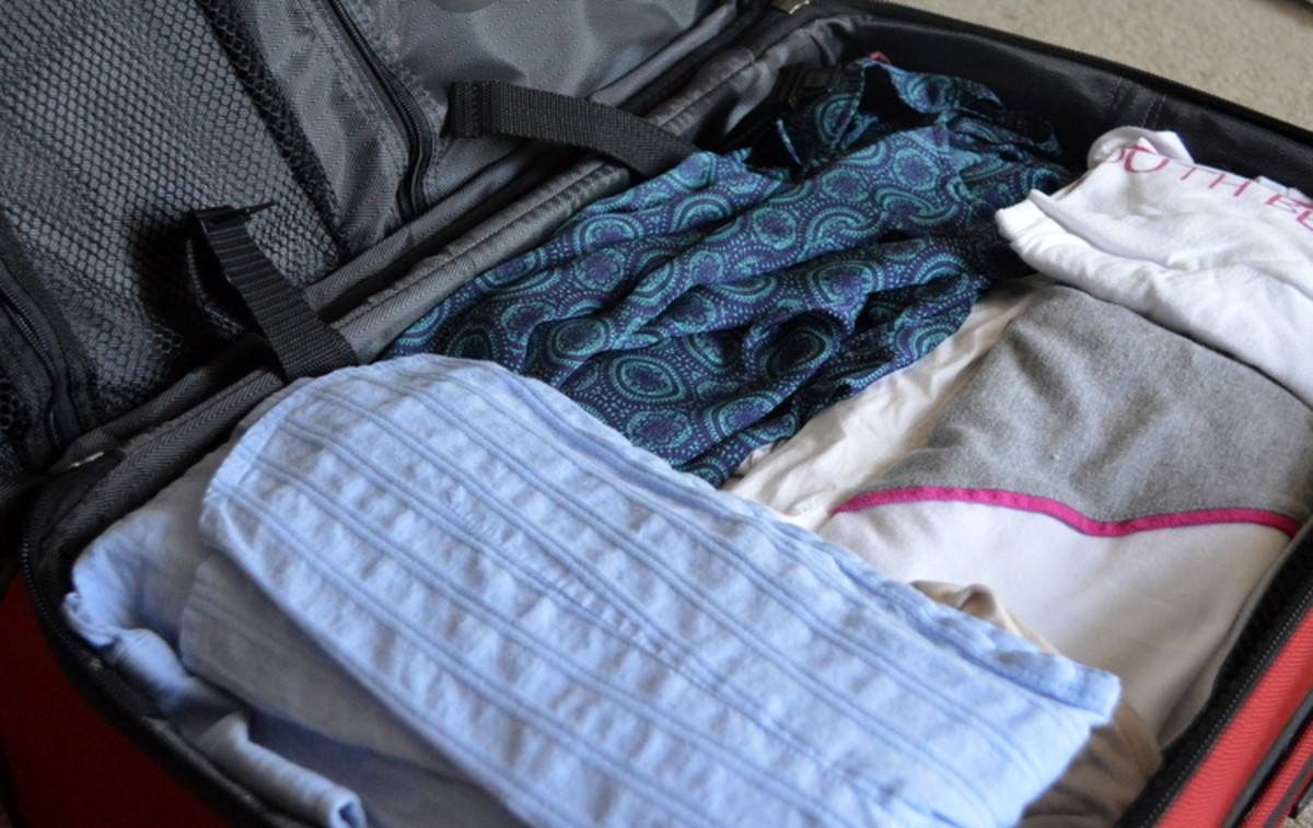 Packing neatly allows you to fit more than you'd expect in a carry on bag!