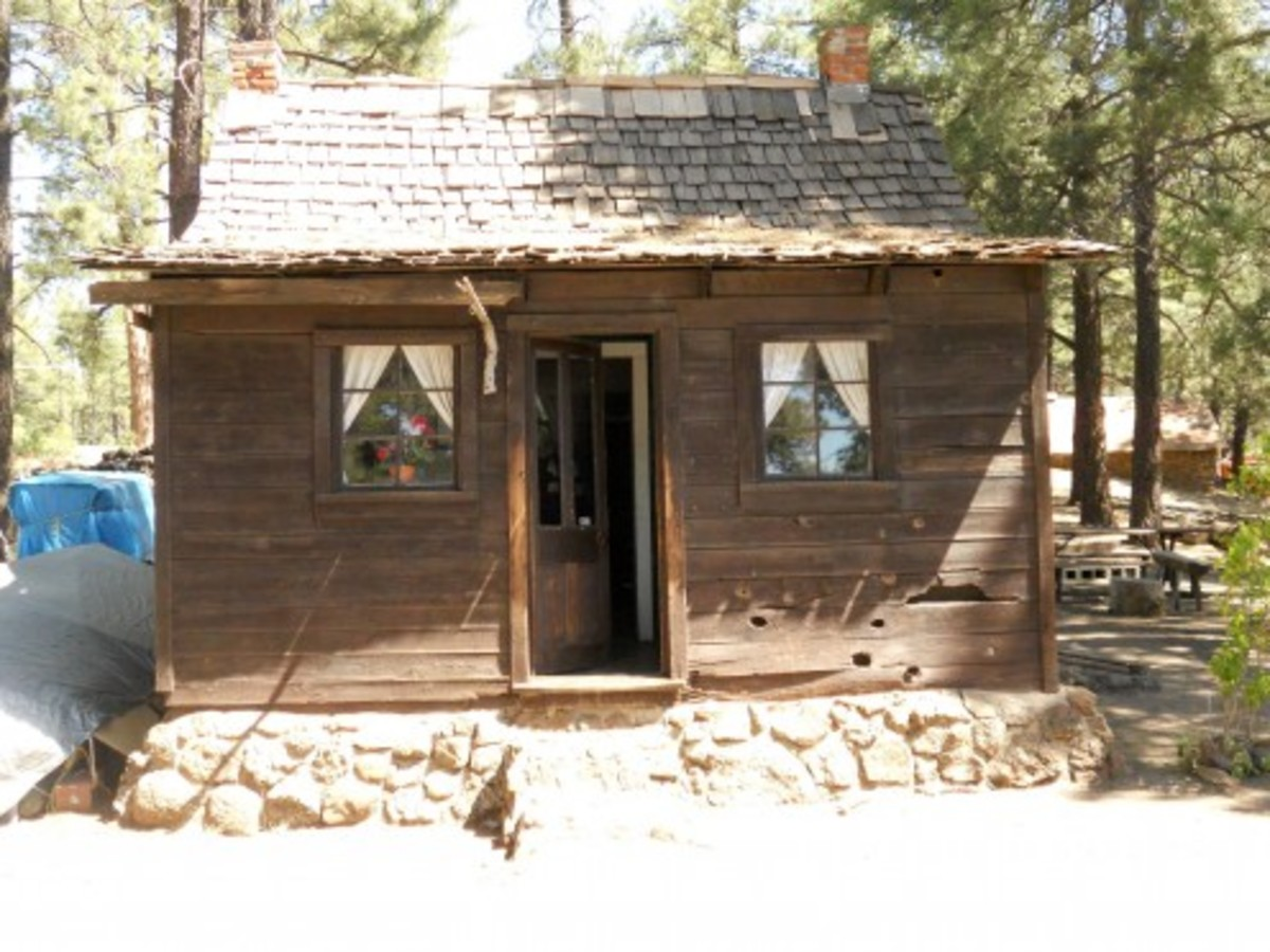 Lumberer's cabin from the 19th century