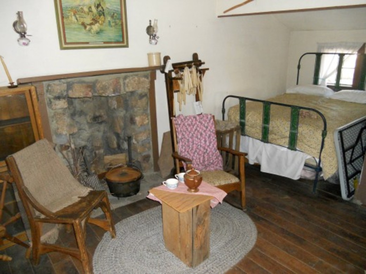 Modest interior of a period pioneer Flagstaff home