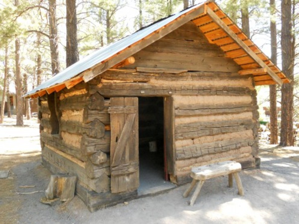 A 19th century Flagstaff cabin wasn't spacious but warm it was.