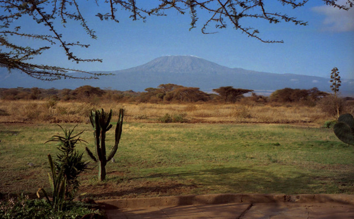 Amboseli with Mount Kilimanjaro in the background