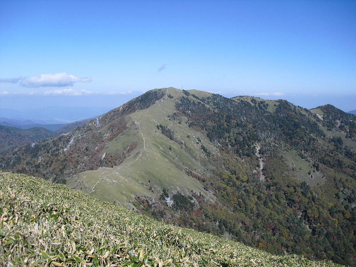 Mount Tsurugi, above Iya Valley, Shikoku.