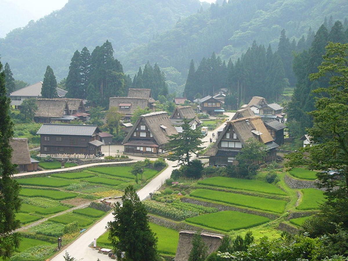 Gokayama Village.