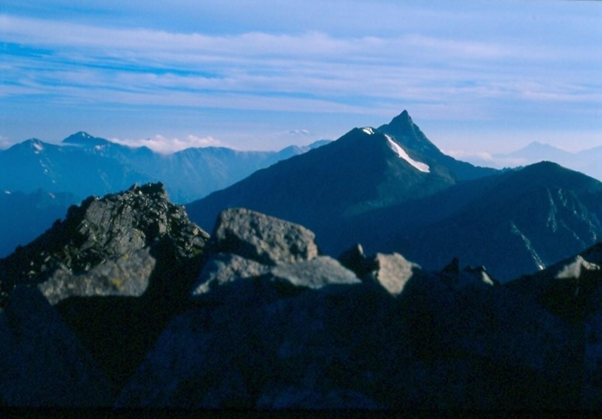 Mount Yari from the Daikretto, Kita Alps.