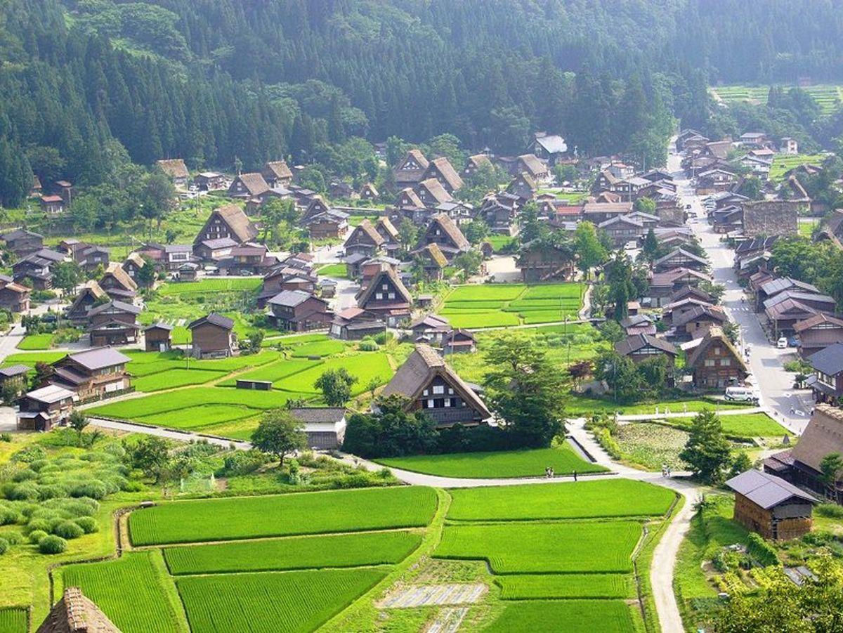 Shirakawa Village.