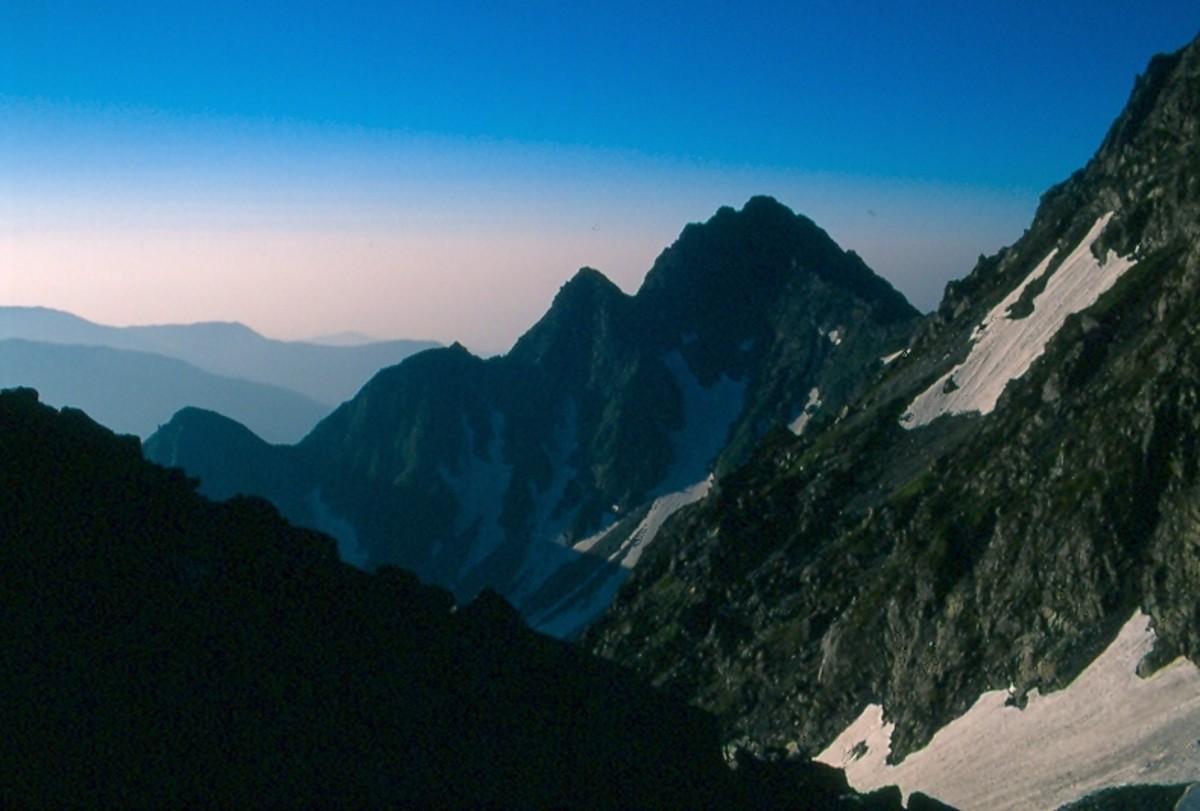 Mae-Hotaka from the Daikretto. Kita Alps.