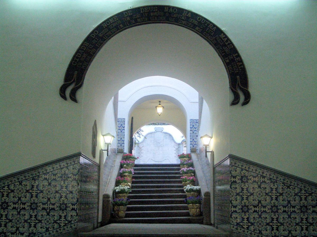 Inside Leal Senado Building.