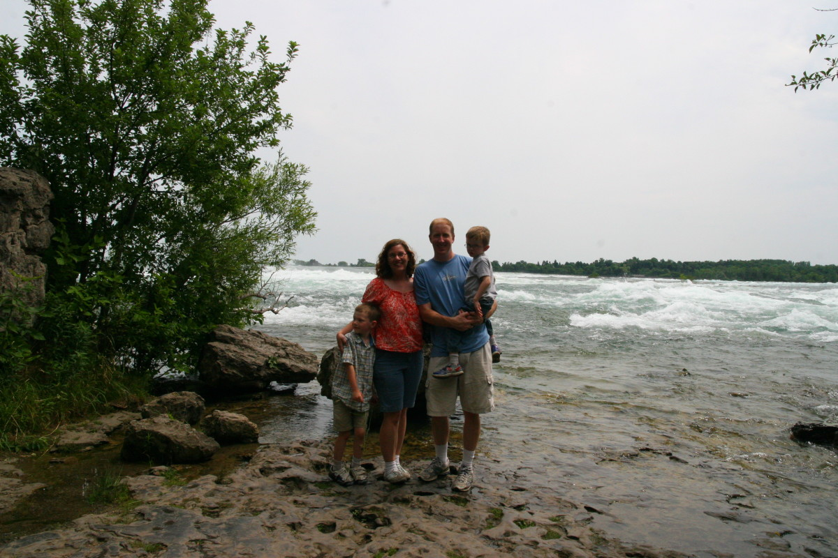 The last of the Three Sisters Islands allows visitors to watch the Niagara River roar past.