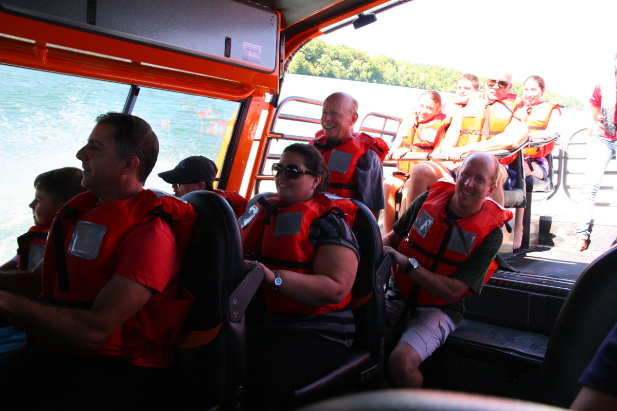 Niagara Jet Adventures offers a completely enclosed area of the boat to keep passengers dry.