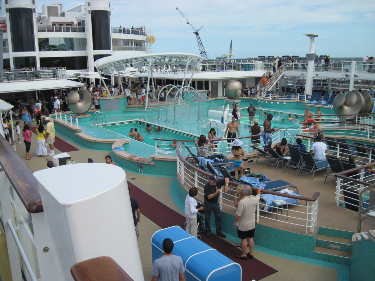 One of the main pool areas