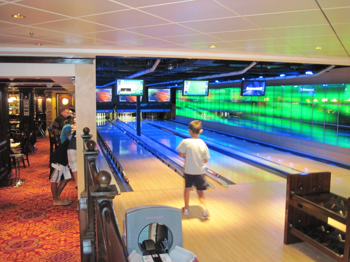 The 3 lane bowling Alley inside O'Sheehan's. There are another 3 lanes for bowling in a different part of the ship.