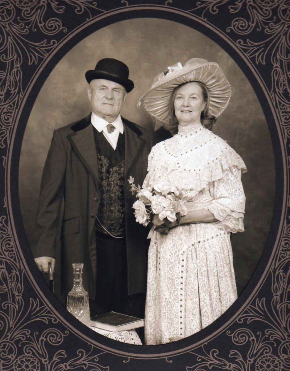 This is how we looked 150 years ago on our wedding day.