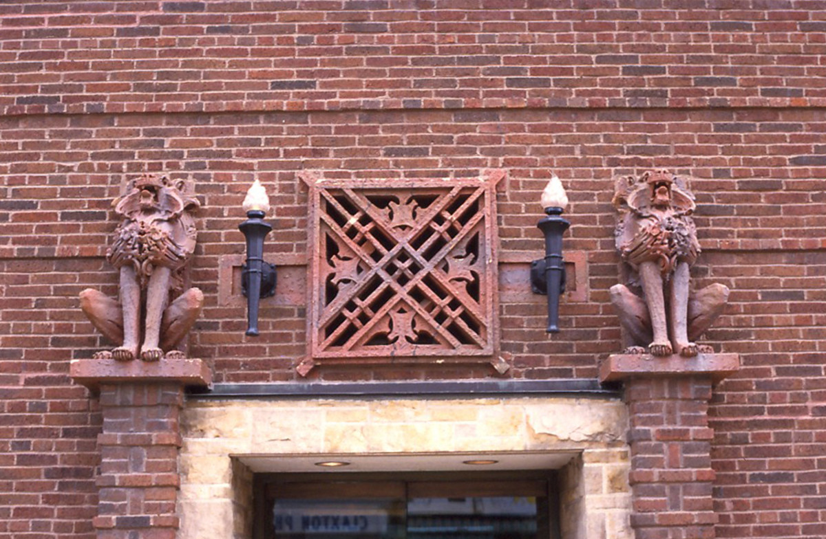 Terra cotta detail on the Louis Sullivan-designed Peoples Bank building.