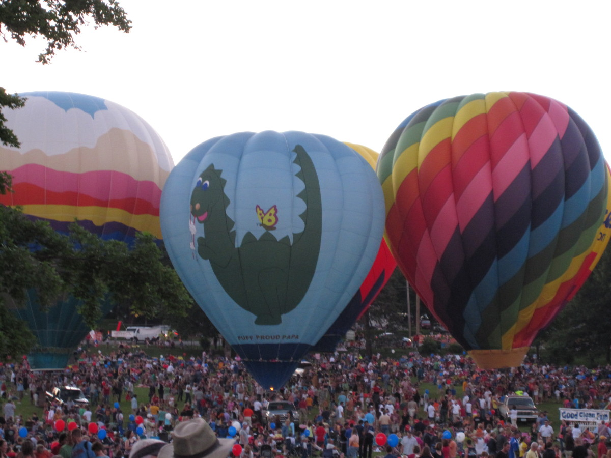Brucemore hosts the popular Balloon Glow event each June as part of the city's Freedom Festival.