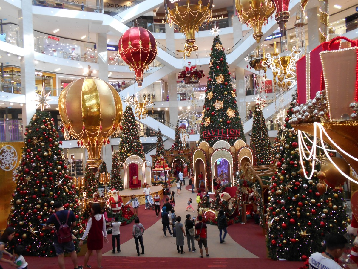 The prestigious Pavilion Shopping Mall in Kuala Lumpur comes alive with decorations during festive seasons.