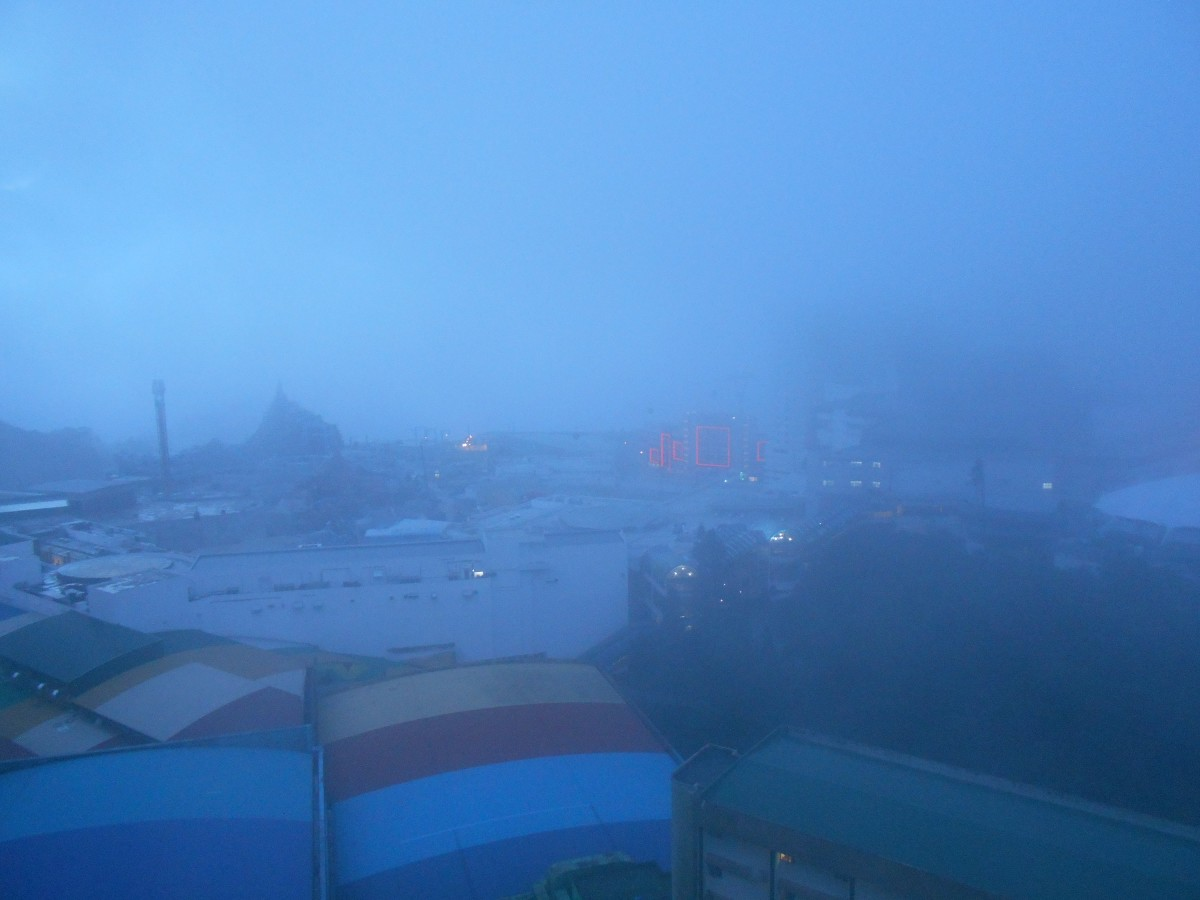 Foggy morning in Genting Highlands.