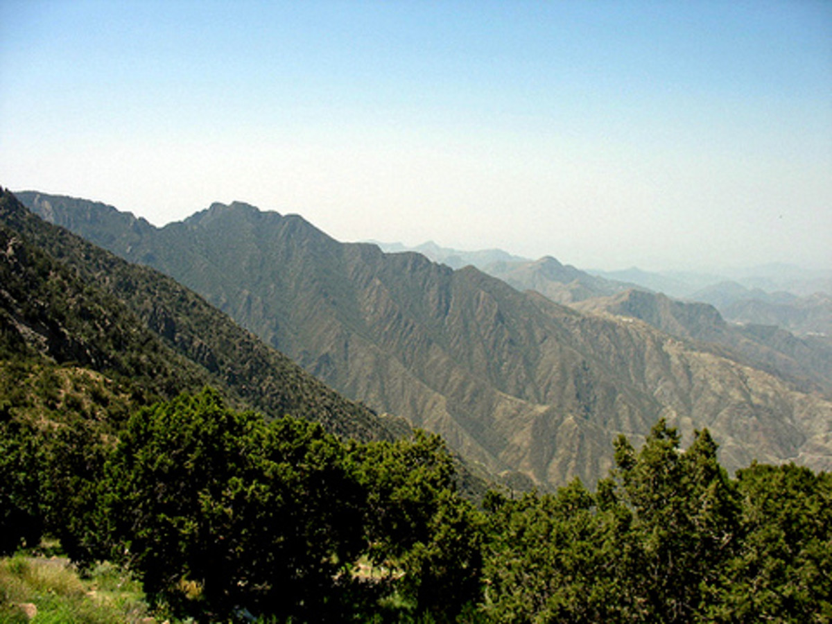 Al Sawda peak at Asir mountain near Abha