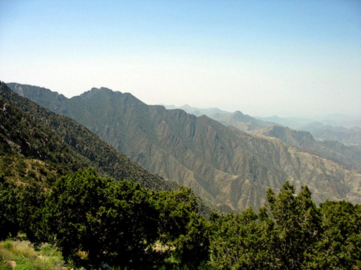 Al Sawda peak at Asir mountain near Abha