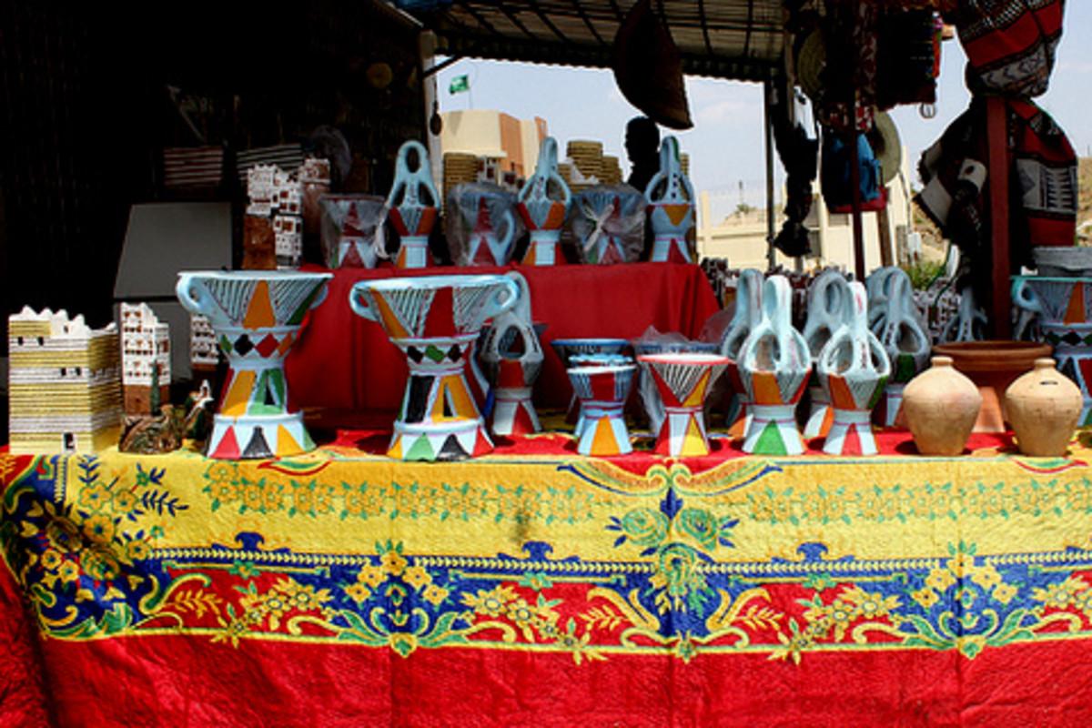 Potteries on sale near Abha