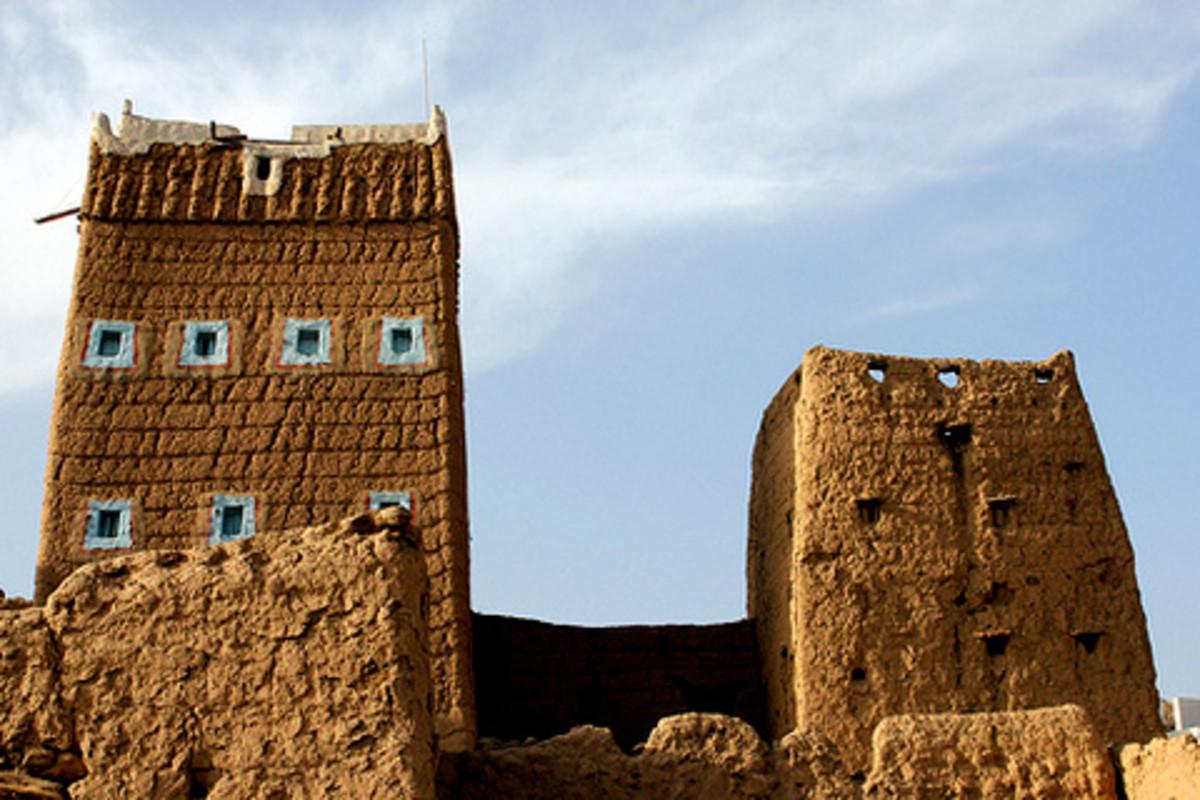 Mud houses near Abha