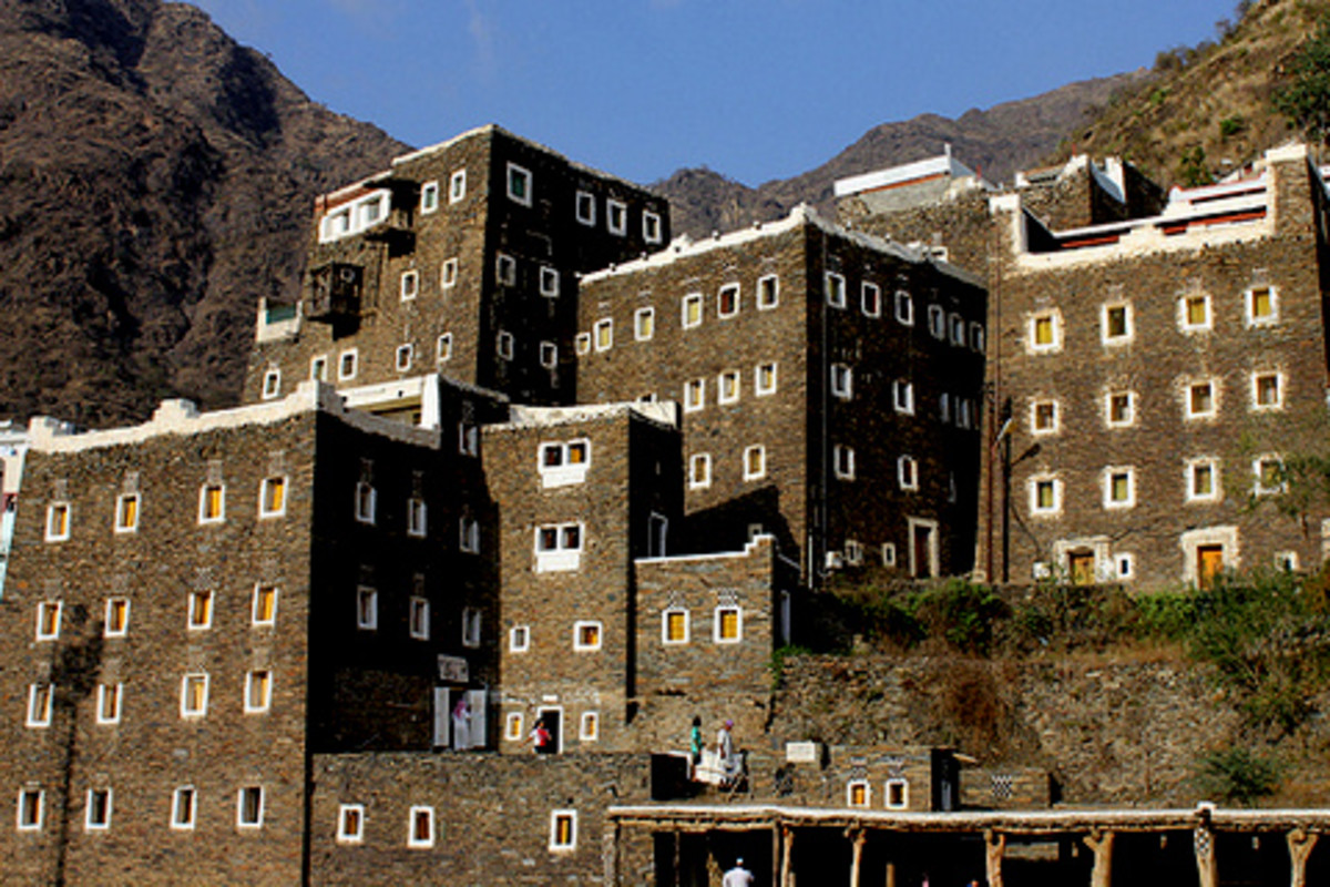 Stone houses of Rijal Alma'a tribes, not far from Abha