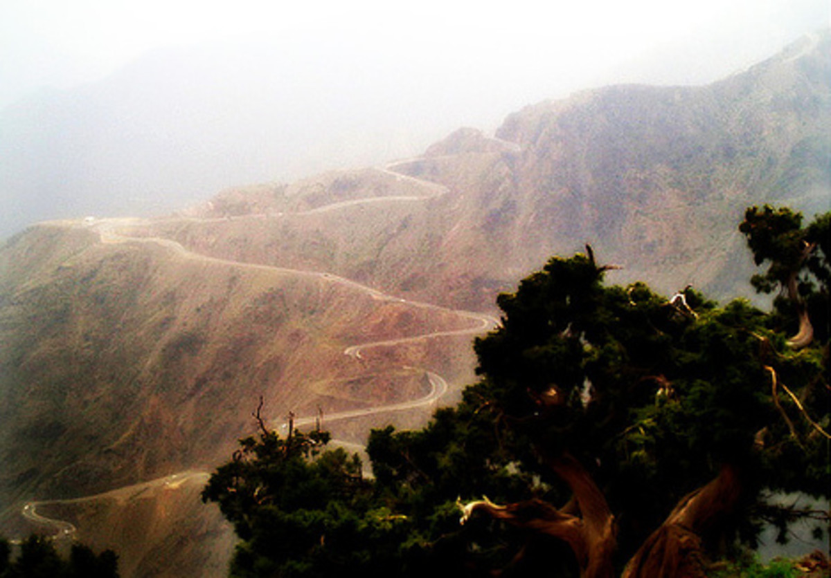 Mountainous terrains around Abha