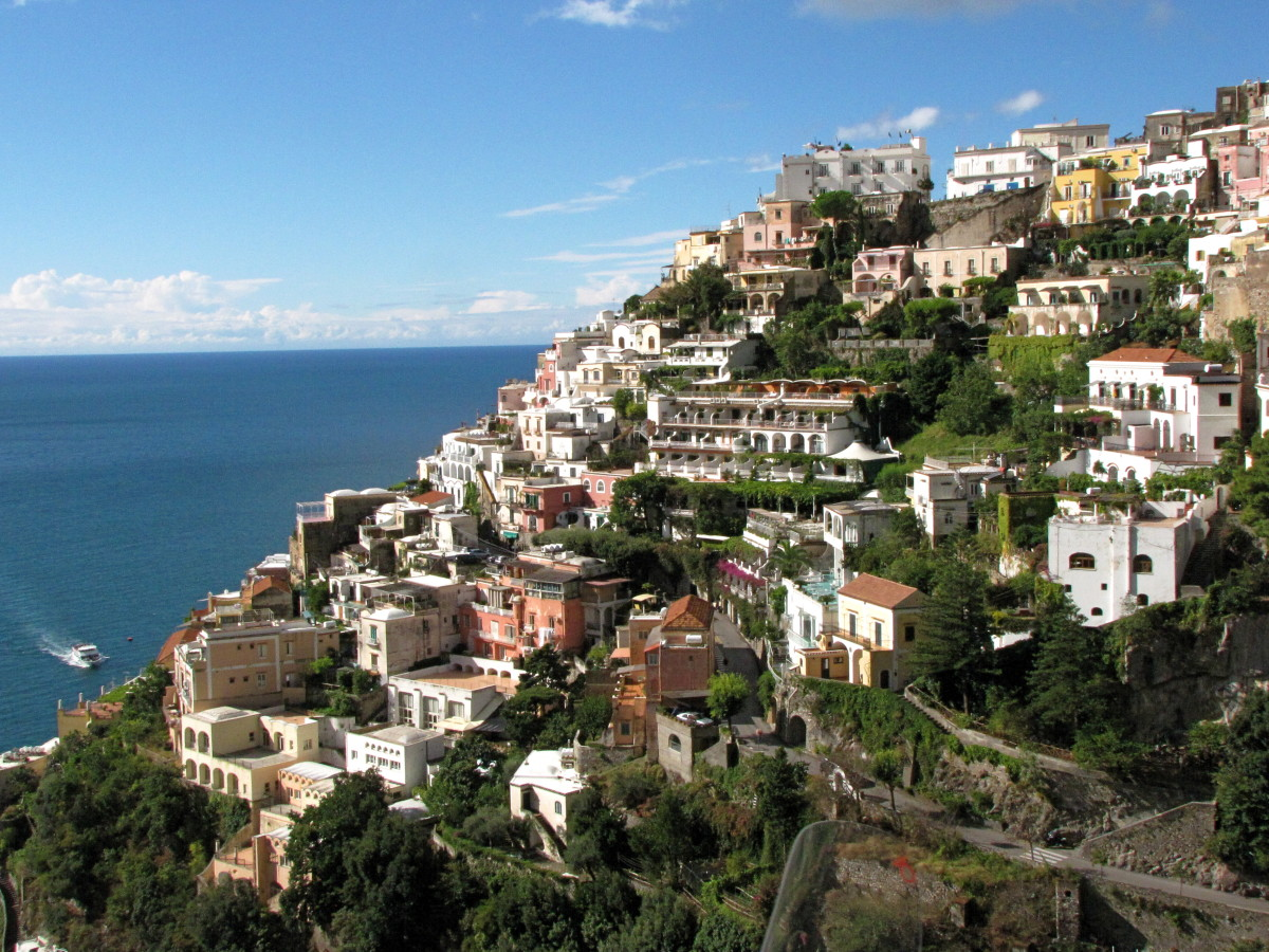 Heading into Positano