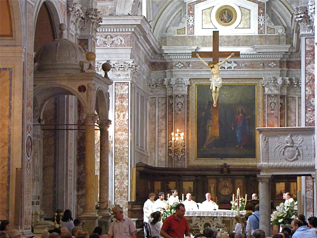 Interior of the Cathedral of Sorrento