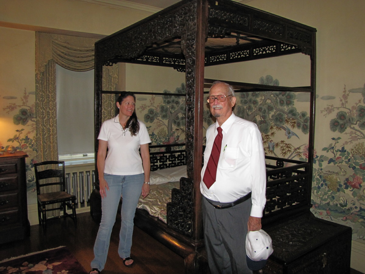 The Empress of China Bed.  Purchased by William and Belle on a trip to Asia.
