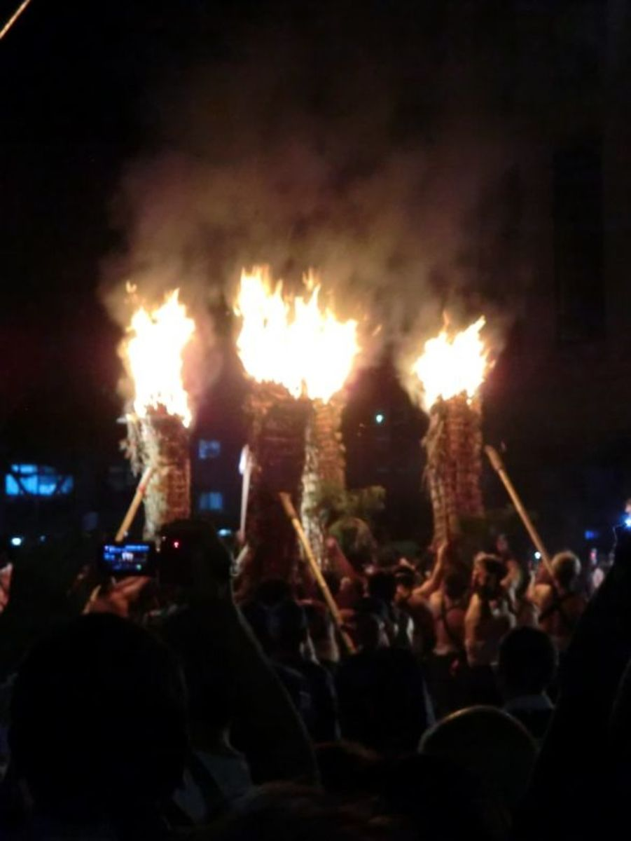 The four torches of the festival